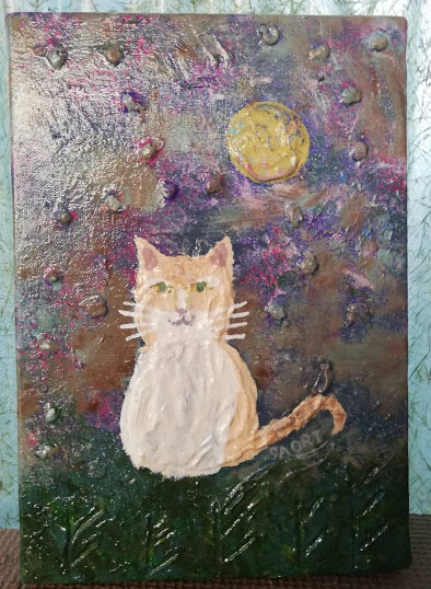 月夜と佇む猫